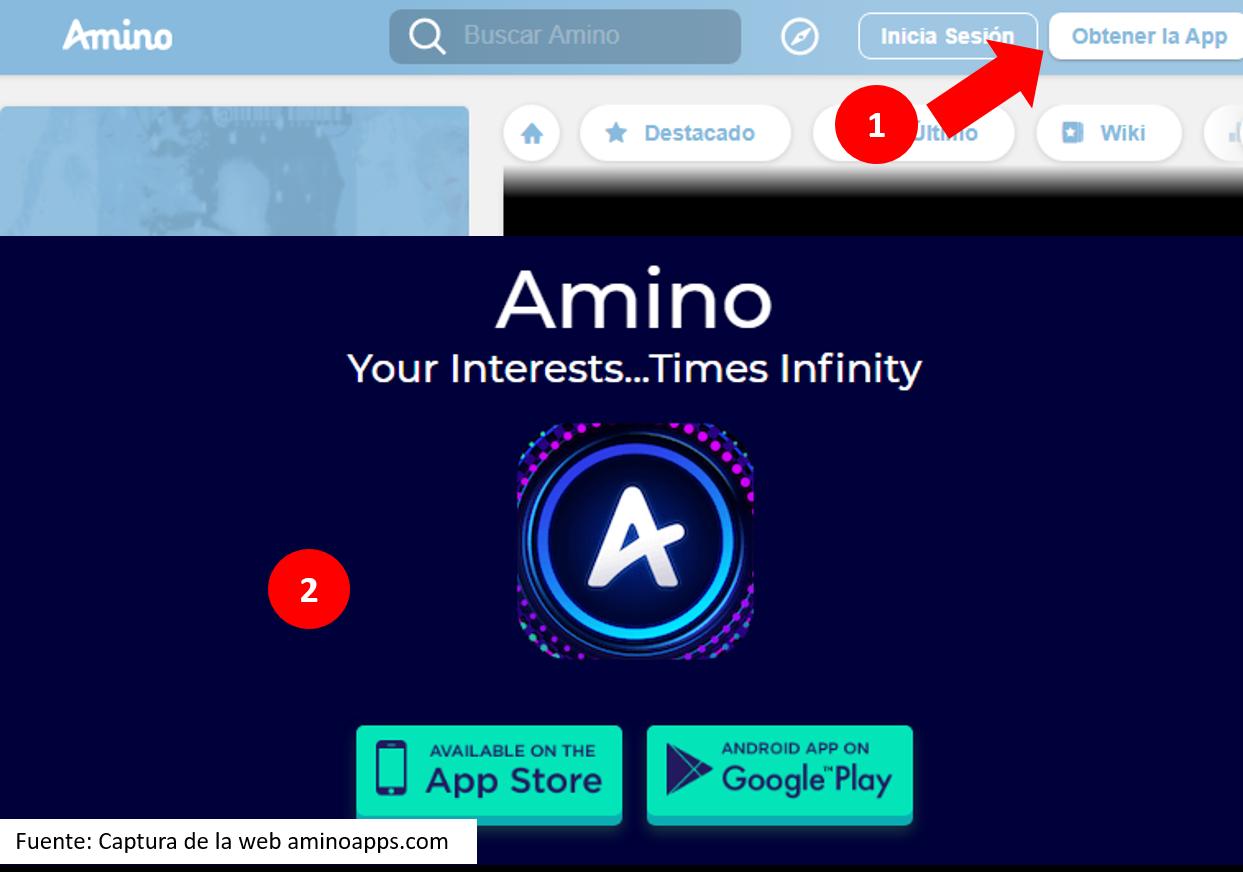 Instalar Amino App En Android Fuente: Captura De La Web Animo