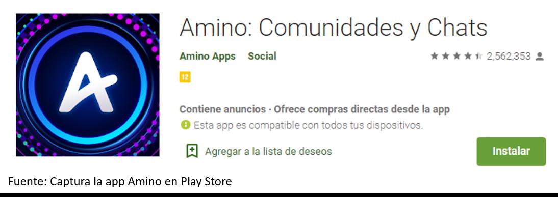 Instalar Amino App En Android Fuente: Captura La App Animo En Play Store