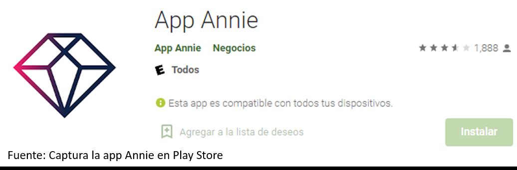 Instalar App Annie En AndroidCaptura La App Annie En Play Store