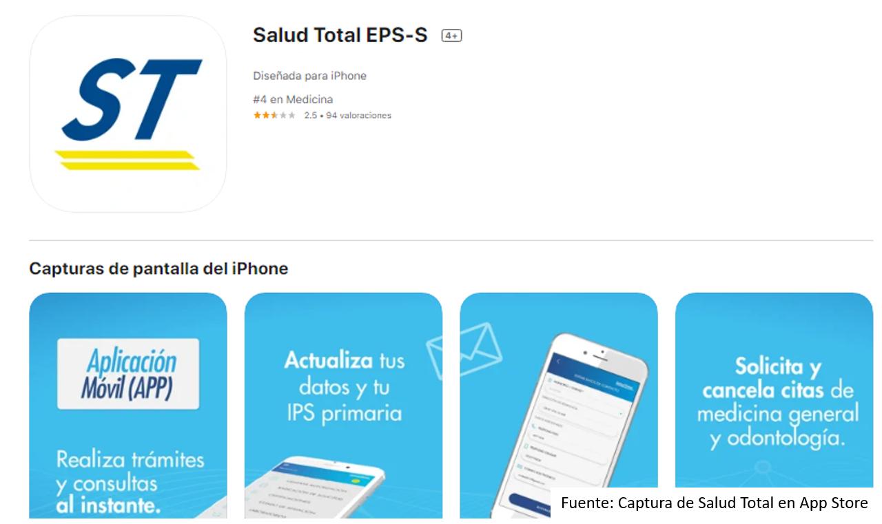 Cómo Utilizar App Salud Total En iPhone Fuente: App Store