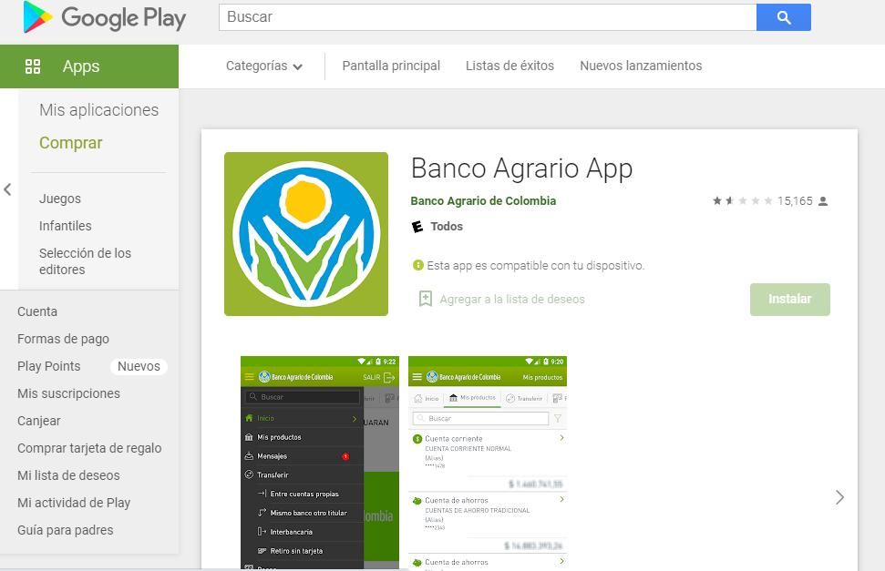 Cómo Ingresar A La App Del Banco Agrario En Android Fuente: Google Play