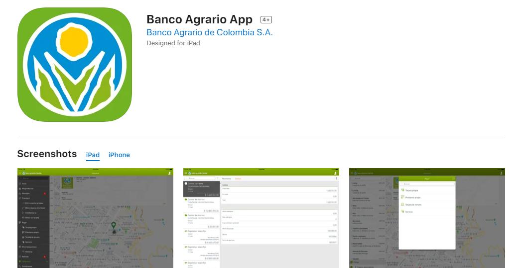 Cómo Ingresar A La App Del Banco Agrario Desde Mi iPhone Fuente: App Store