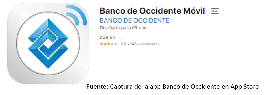 App Banco De Occidente Para iPhone