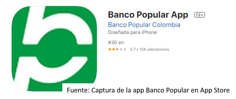 App De Banco Popular Para iOS